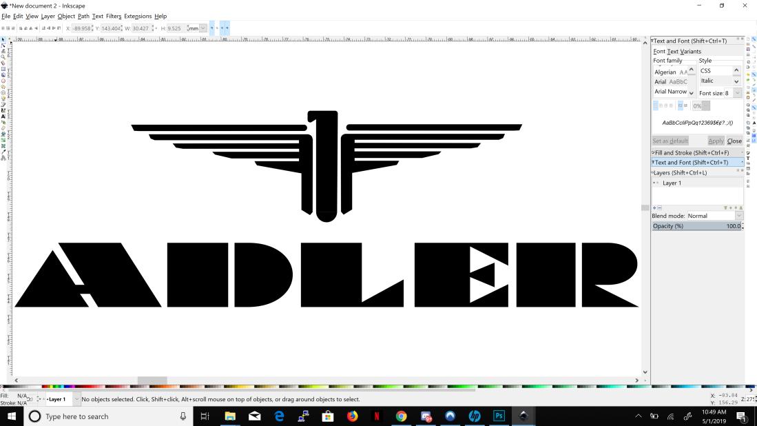 adler logo inkscape